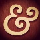 wooden ampersand